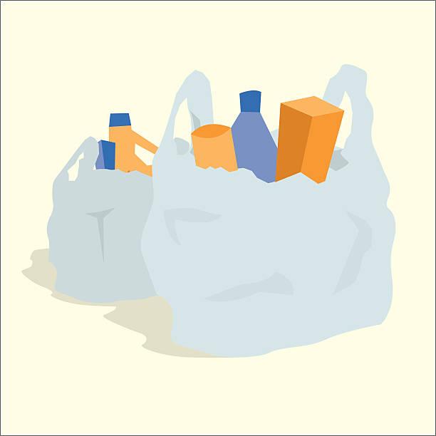 Plastic Bag Clip Art, Vector Images & Illustrations - iStock