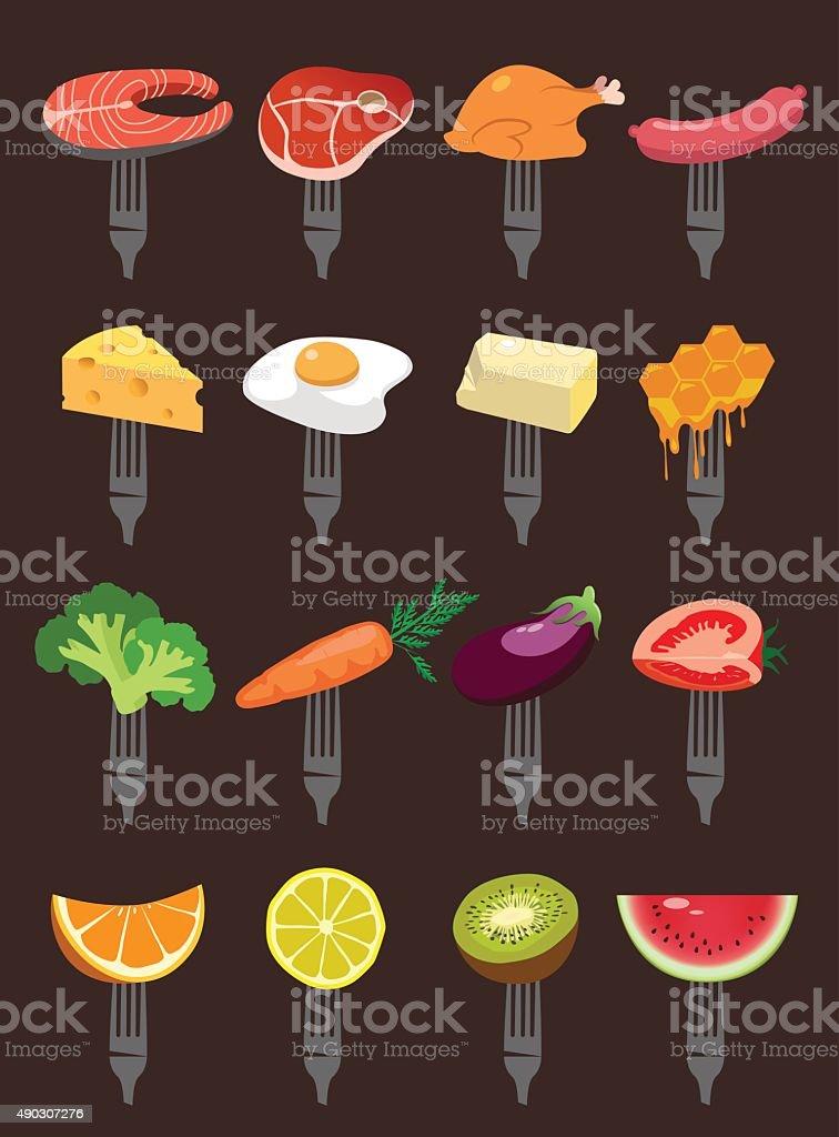 Supermarket vector art illustration