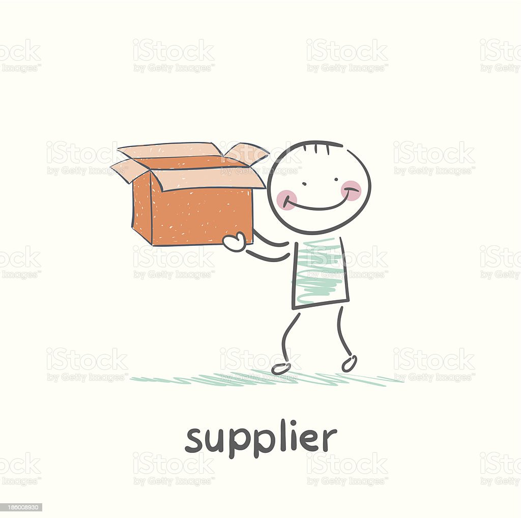 supplier is an empty box royalty-free stock vector art