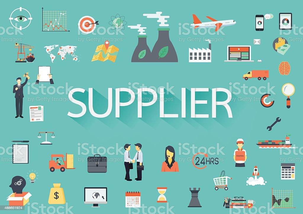 Supplyer vector art illustration