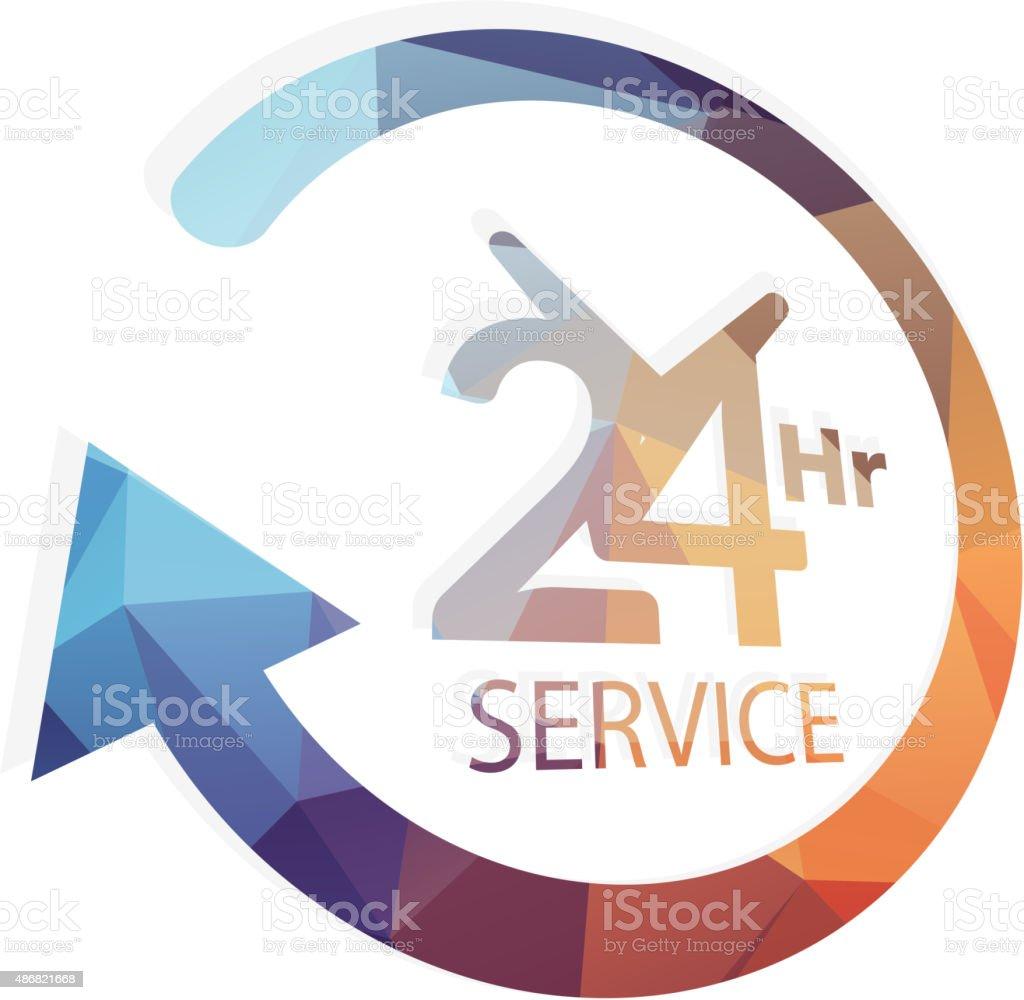 Support 24 X 7 vector art illustration