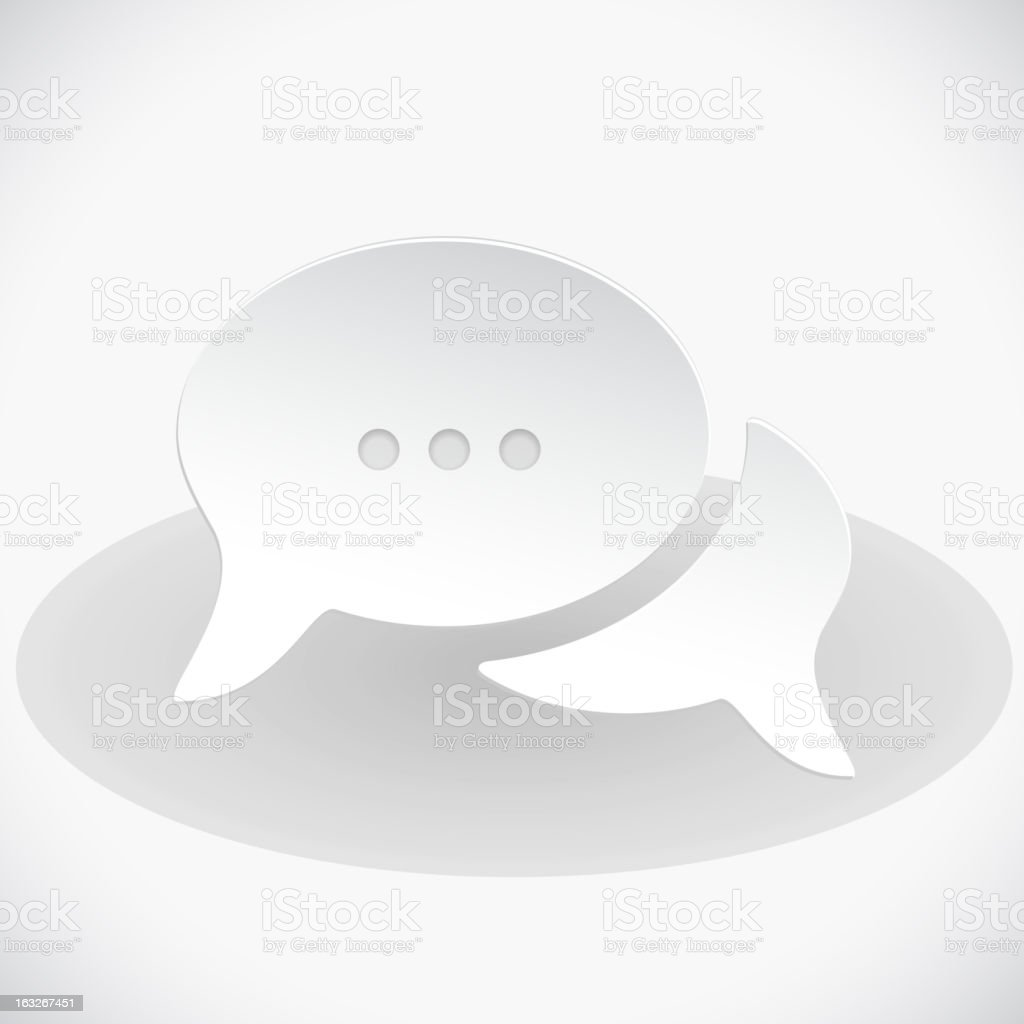 Support chat White Background royalty-free stock vector art