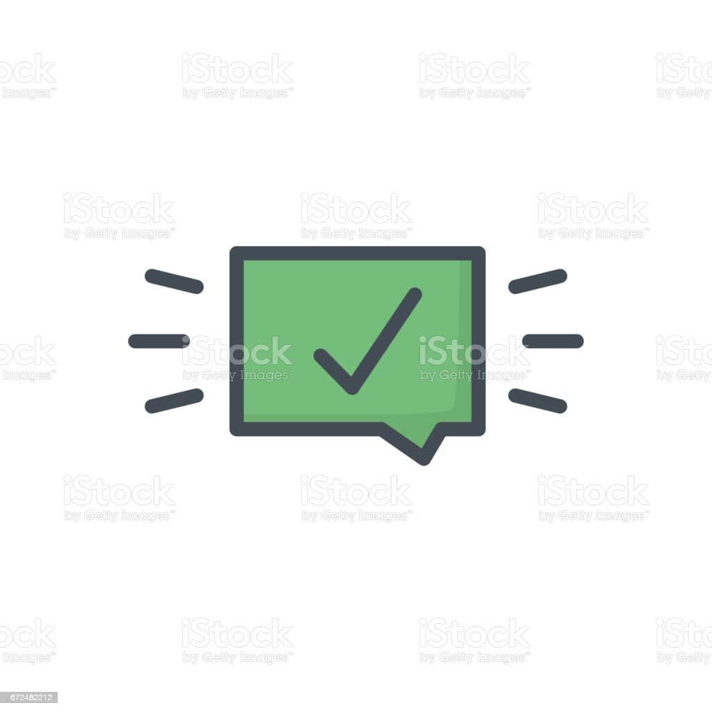 Support Contacts Work Service Colored Icon Check vector art illustration