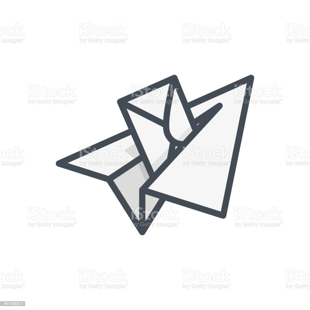 Support Contacts Work Service Colored Icon Paper Plane vector art illustration