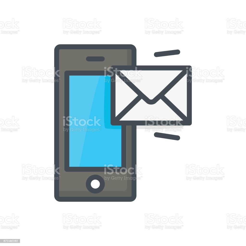 Support Contacts Work Service Colored IconPhone Message vector art illustration