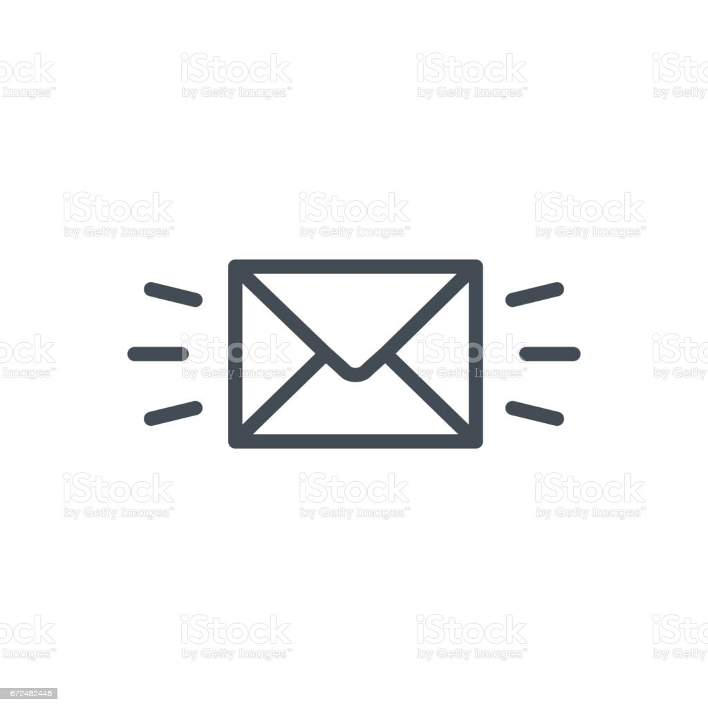 Support Contacts Work Service Line Icon Message vector art illustration