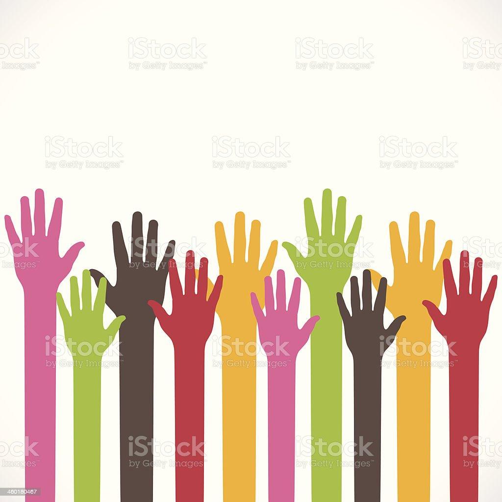 support hand background vector art illustration