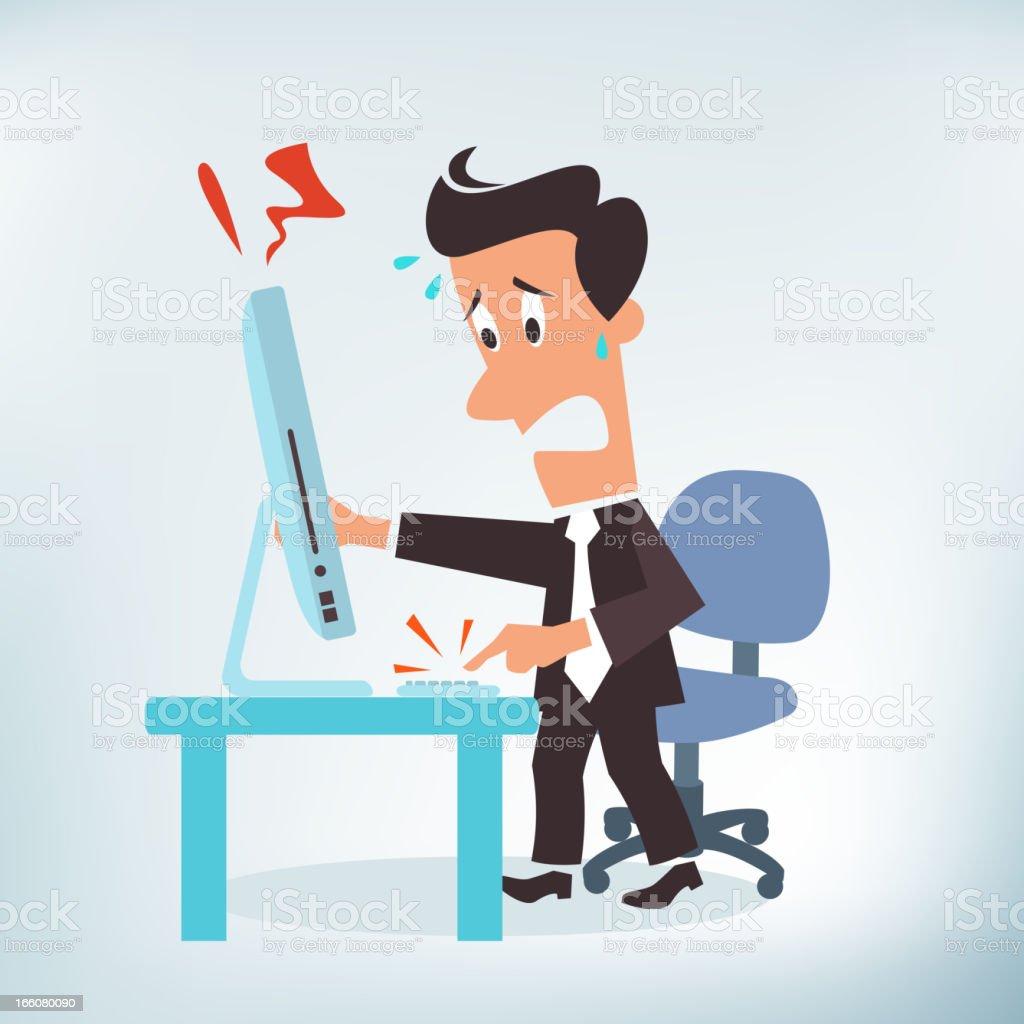 IT Support Needed vector art illustration
