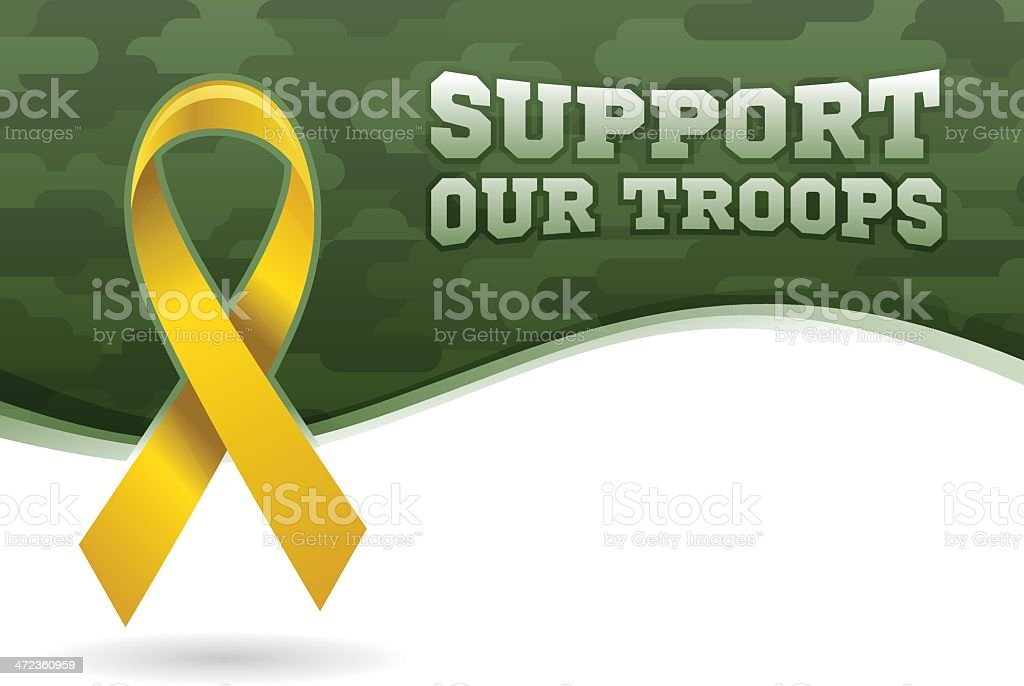 Support Our Troops vector art illustration