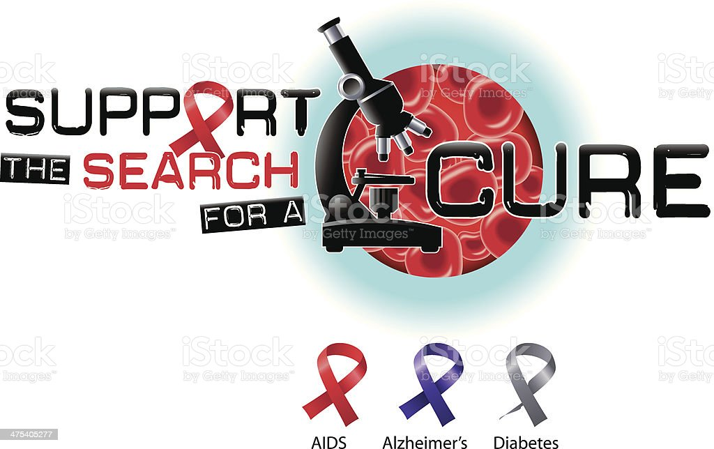 Support Search Heading C vector art illustration
