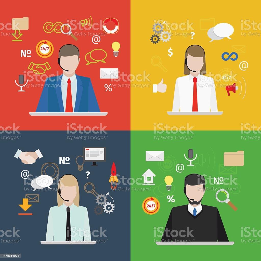 Support service vector art illustration