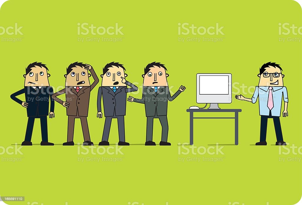 IT Support royalty-free stock vector art