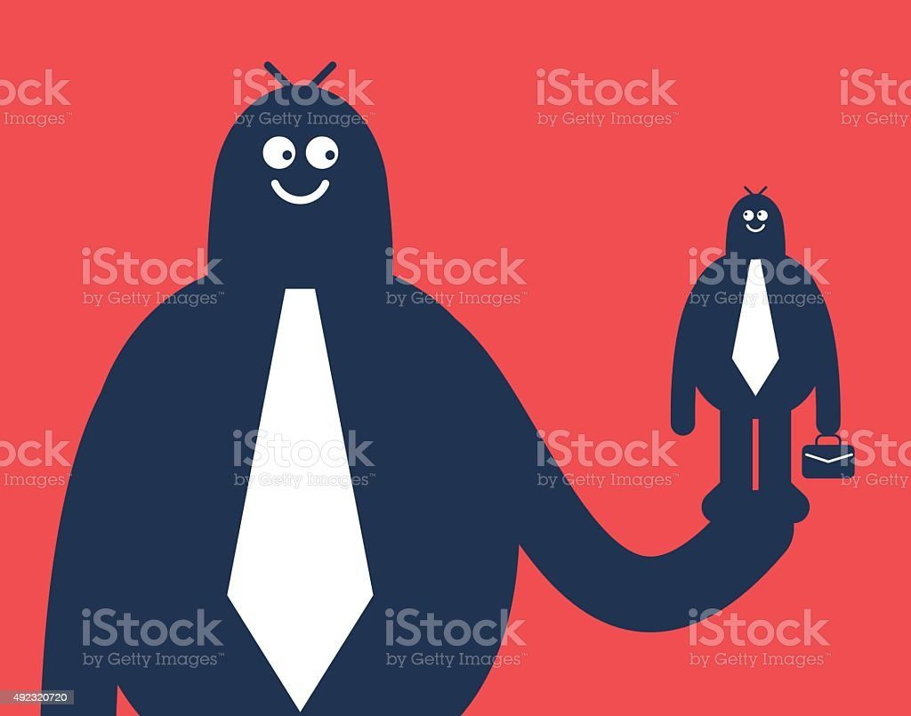 Supporting Small Businesses for Big Change vector art illustration