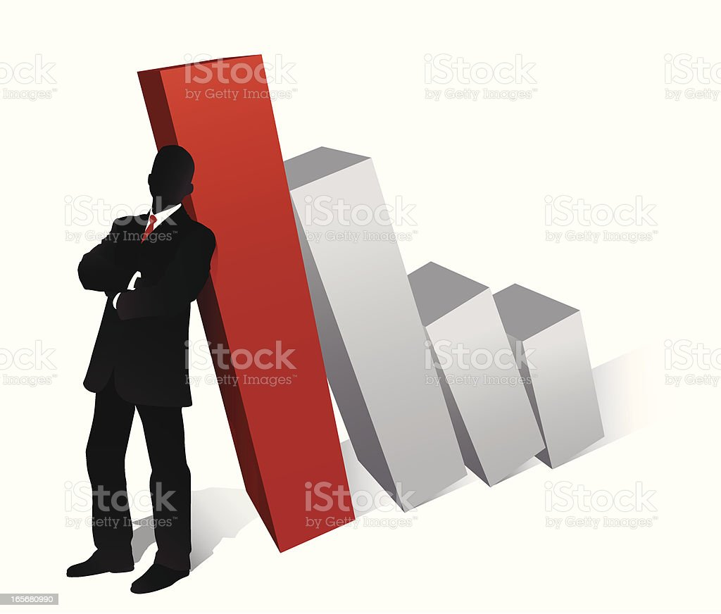 Supporting the Barchart royalty-free stock vector art