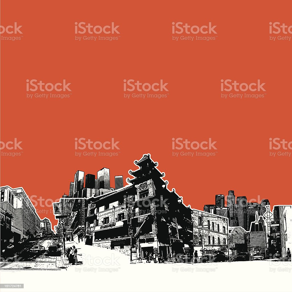 Sureal cityscap royalty-free stock vector art