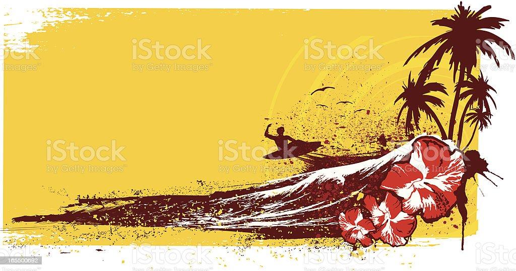 surf adventure royalty-free stock vector art