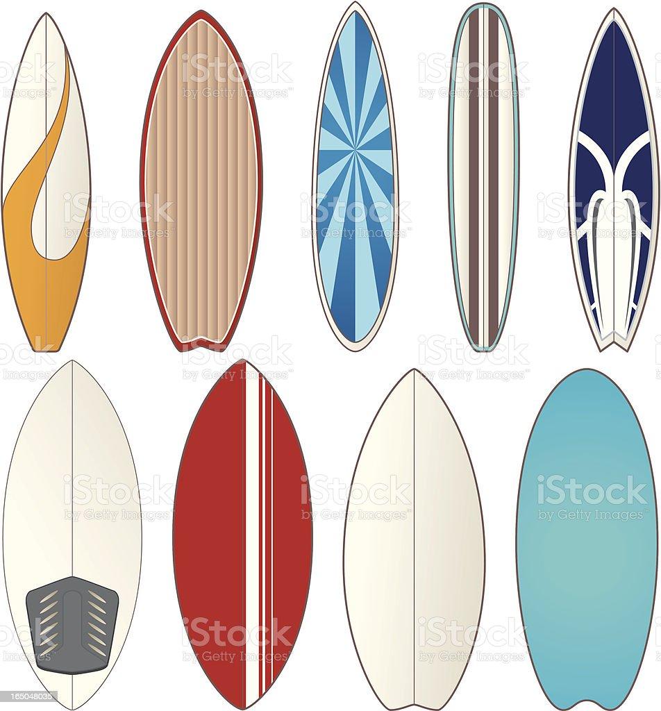 Surf Boards vector art illustration