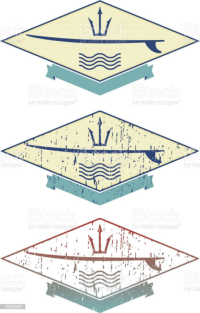 surf emblem vector art illustration