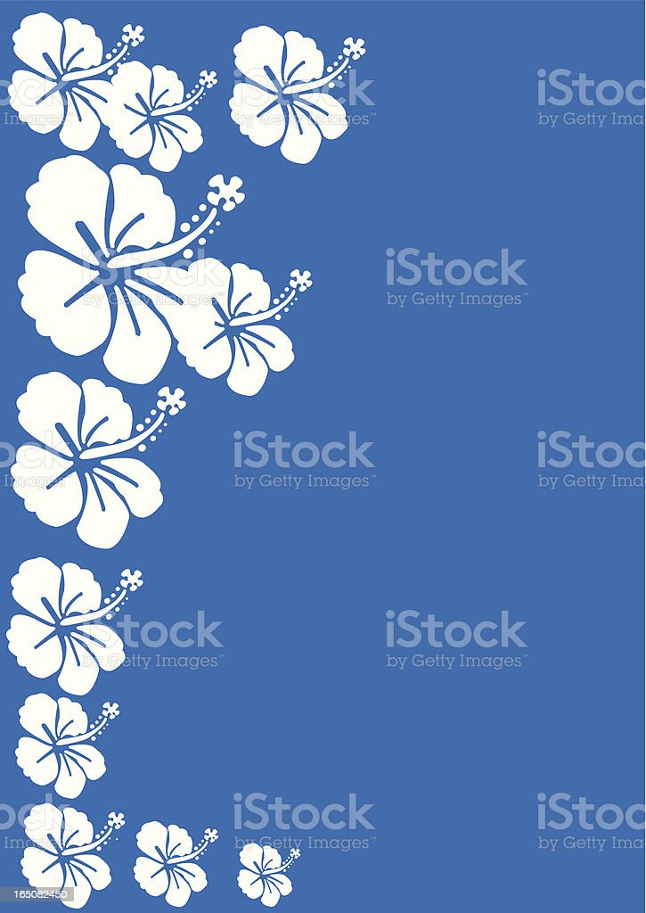 Surf Flowers vector art illustration