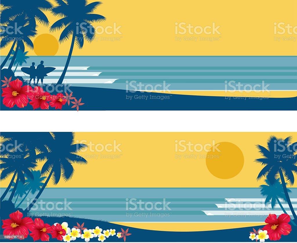 Surf Panels vector art illustration