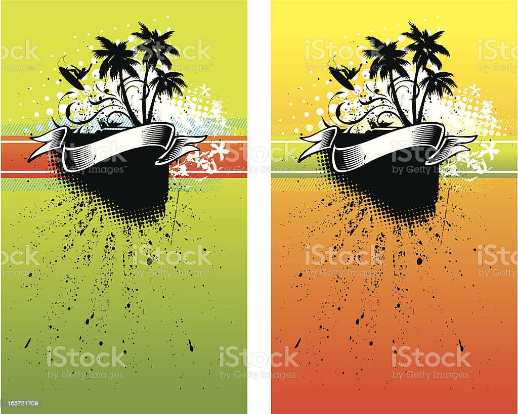 Surf posters royalty-free stock vector art