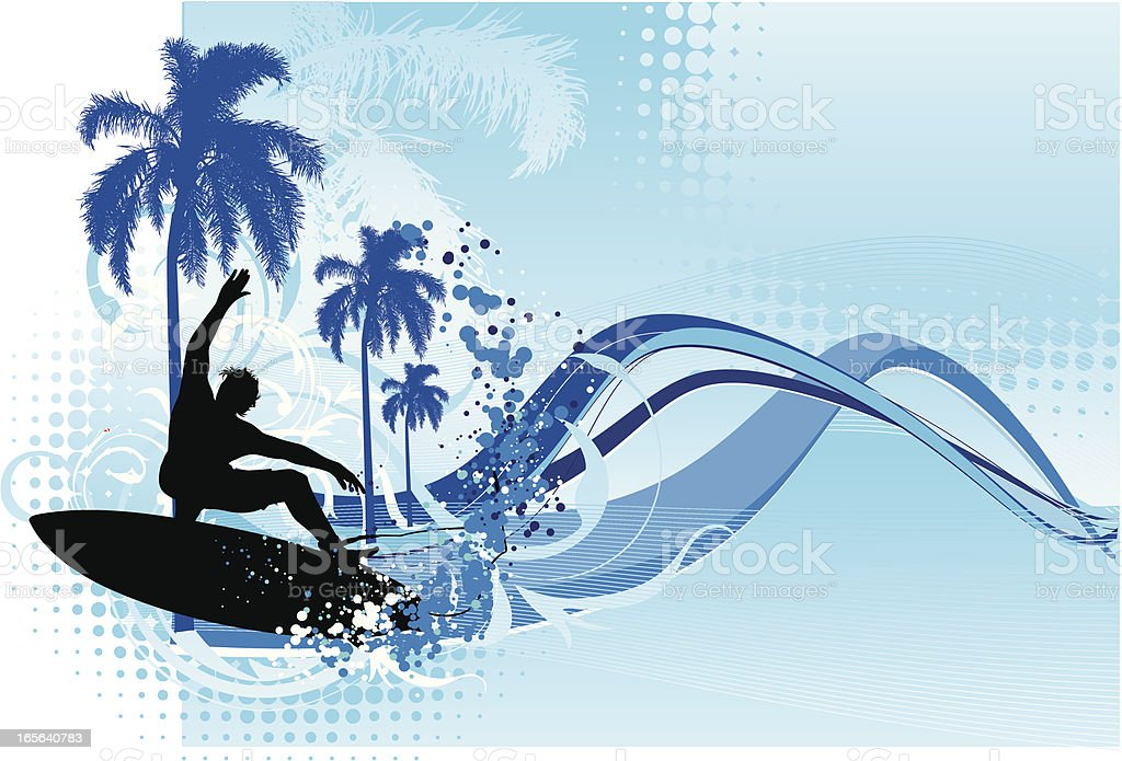 surf season royalty-free stock vector art