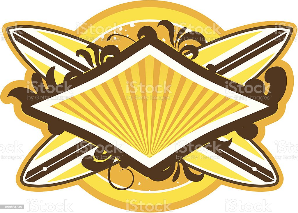 Surf shield royalty-free stock vector art