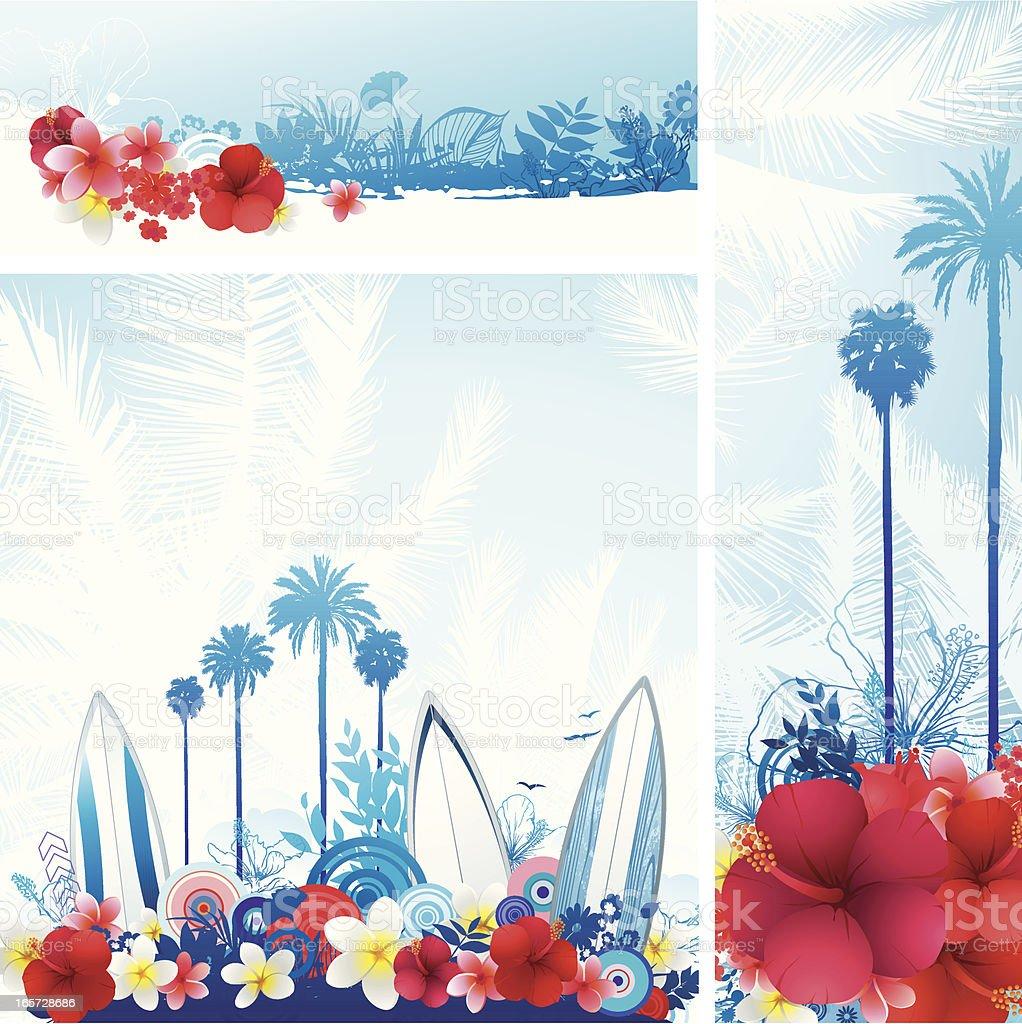 Surf summer set royalty-free stock vector art