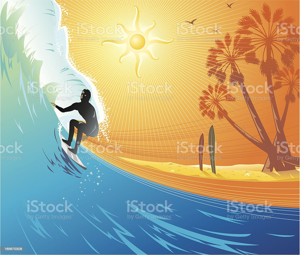 Surf Up royalty-free stock vector art