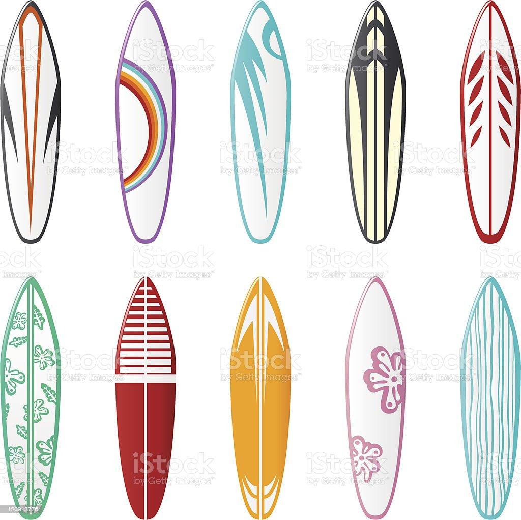 Dise os de la tabla de surf illustracion libre de derechos - Disenos de tablas de surf ...