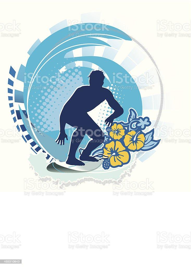 Surfboard Emblem - Vector Illustration royalty-free stock vector art