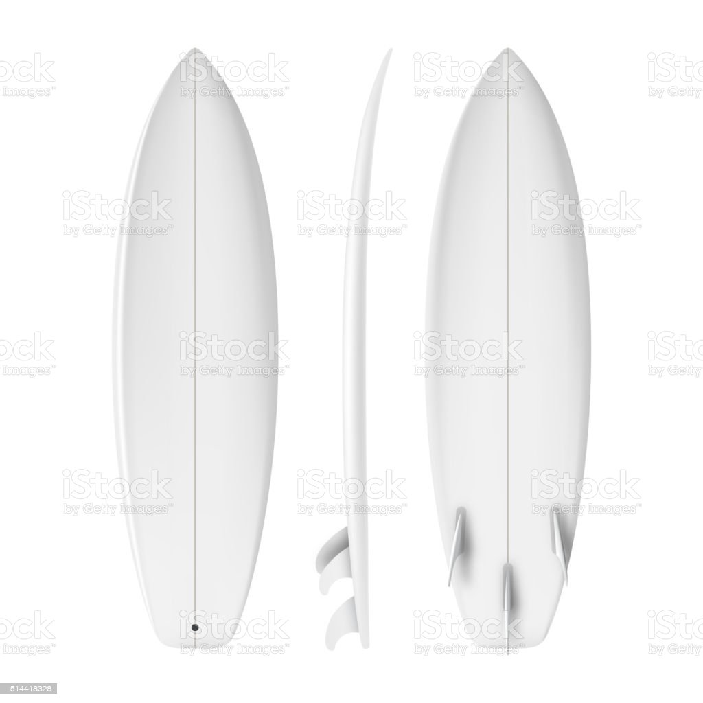 Surfboard isolated realistic Vector vector art illustration