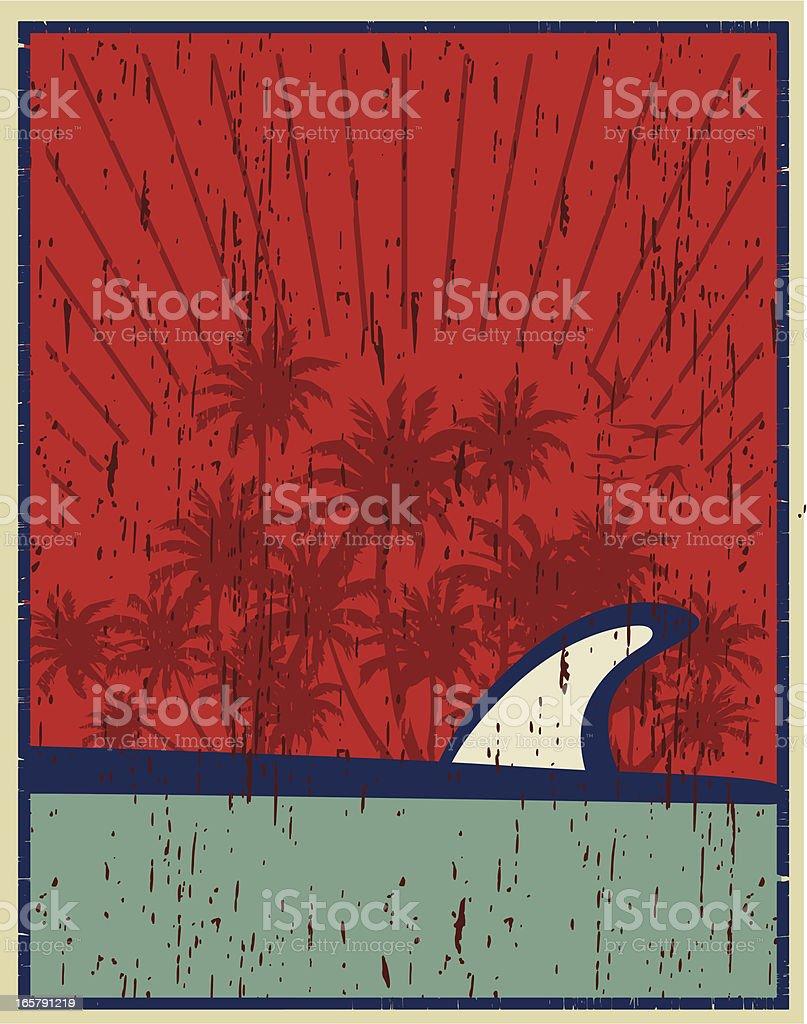 surfboard poster royalty-free stock vector art