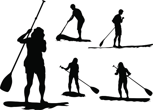 Stand Up Paddle Board Clip Art, Vector Images