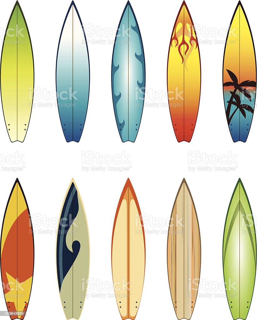 Surfboards royalty-free stock vector art