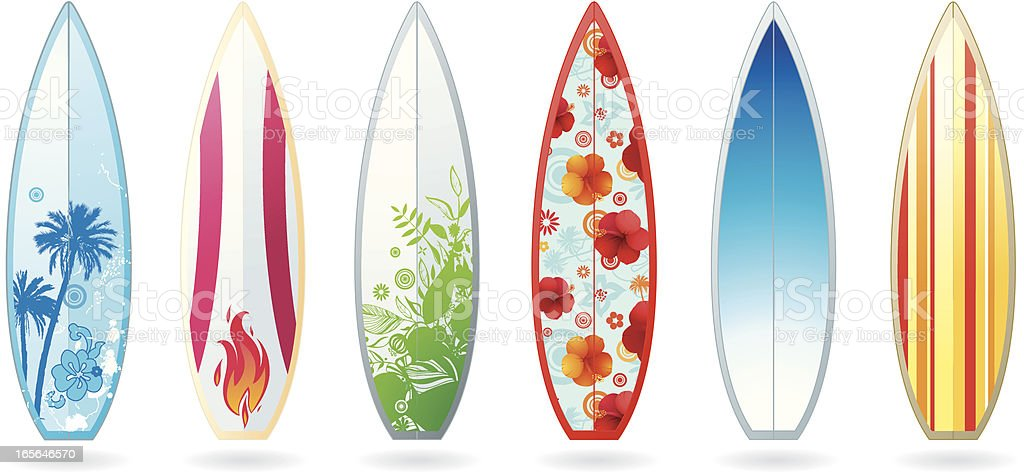 Surfboards vector art illustration