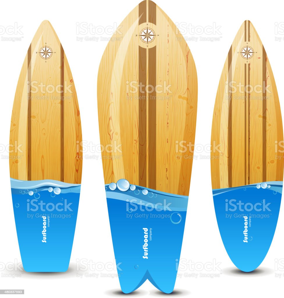 Surfboards royalty-free stock vector art