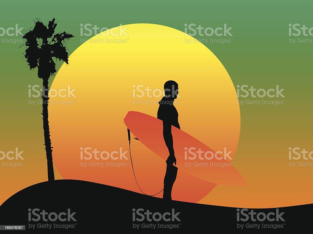 Surfer Dude royalty-free stock vector art