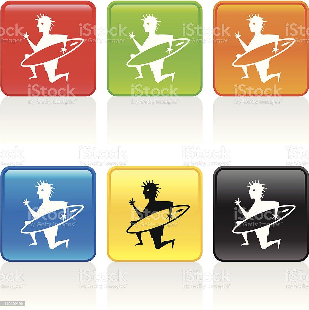 Surfer Icon vector art illustration