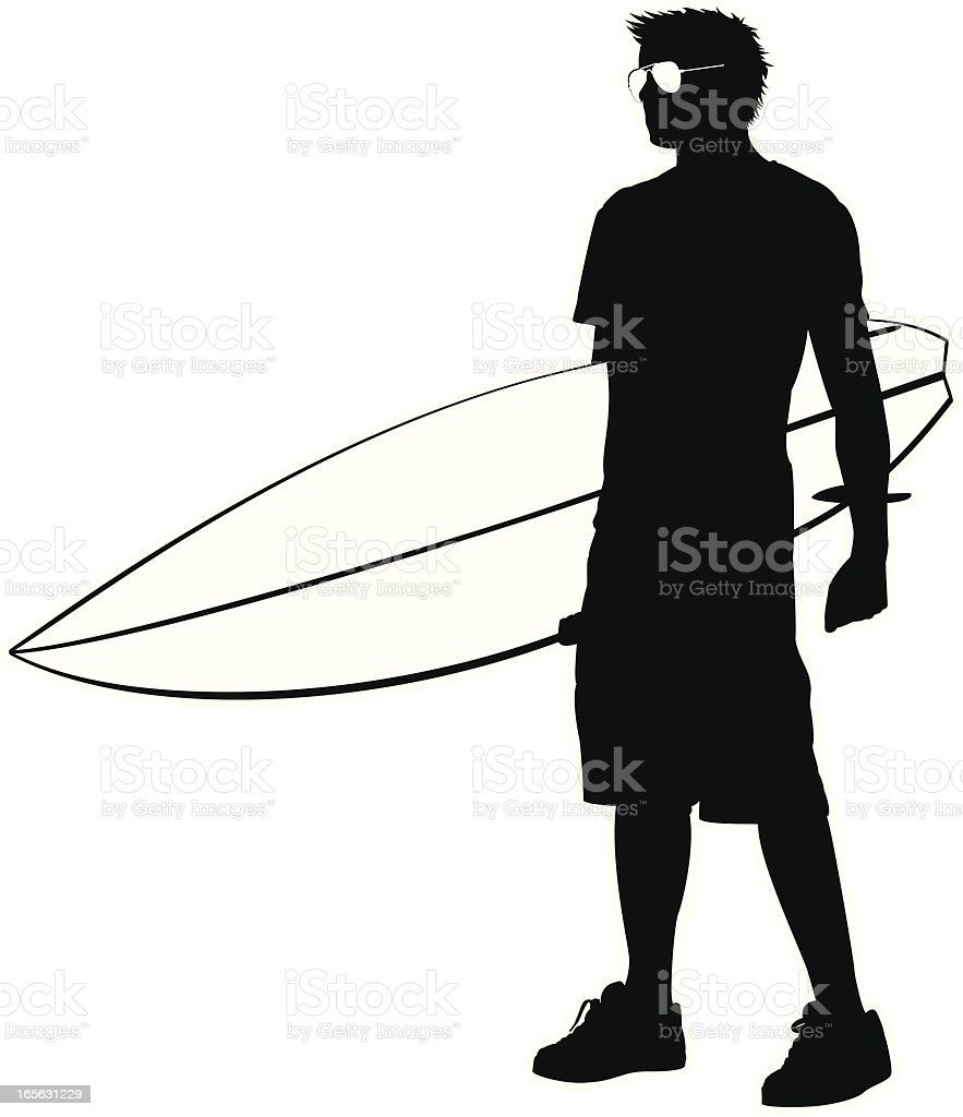 surfer royalty-free stock vector art