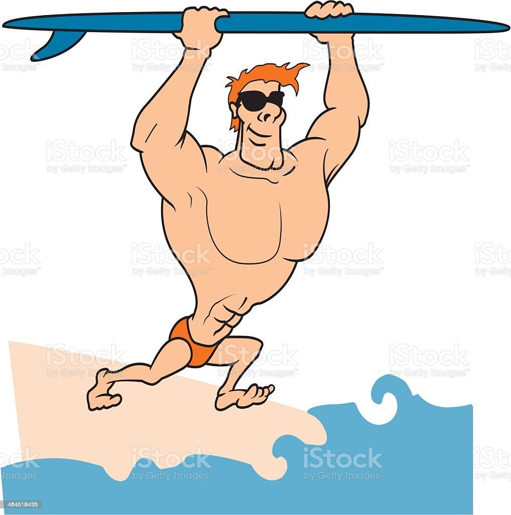 Surfer royalty-free stock vector art