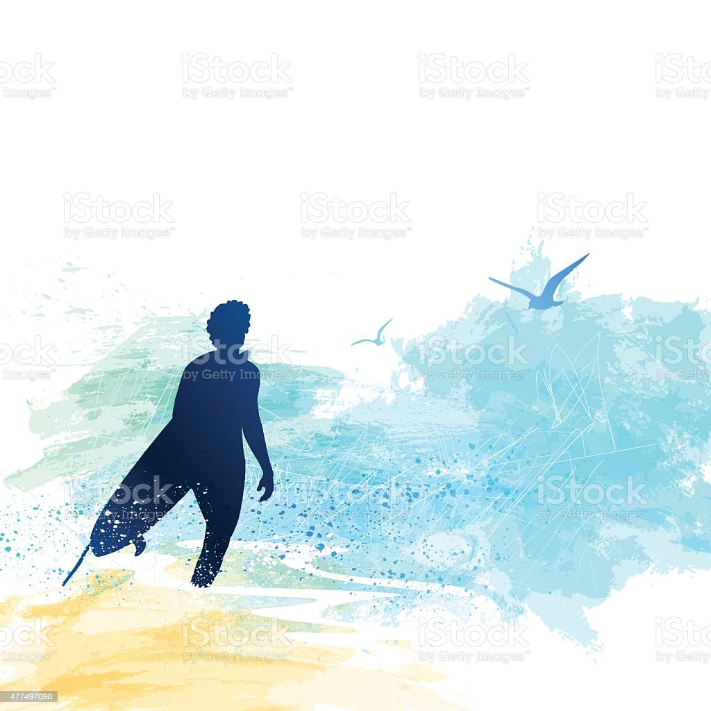 Surfer vector art illustration