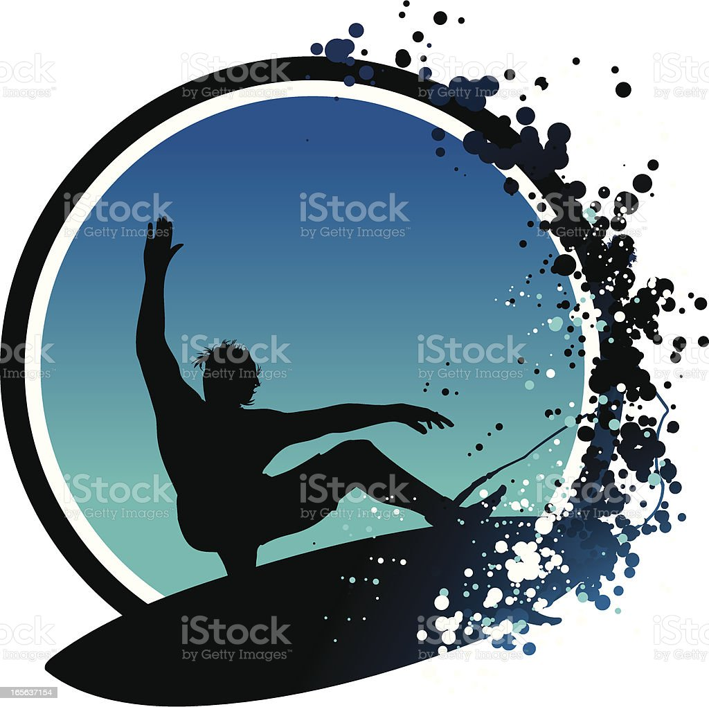 surfer?s cut vector art illustration