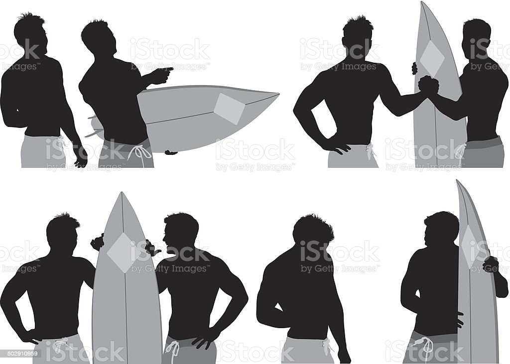 Surfers royalty-free stock vector art