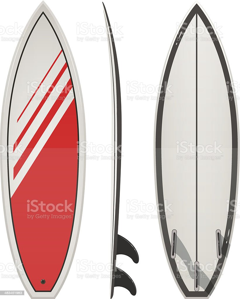 Surfing board vector art illustration
