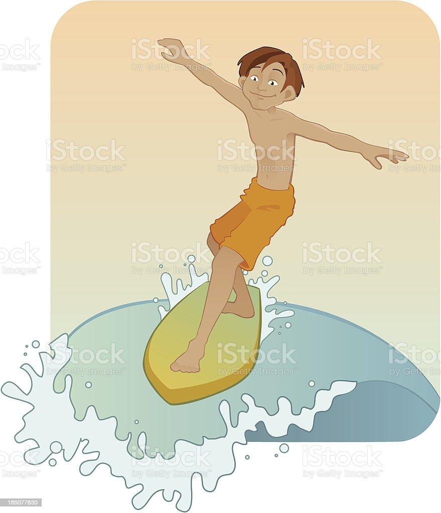 Surfing Boy royalty-free stock vector art