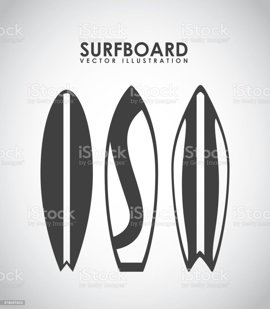 surfing design vector art illustration