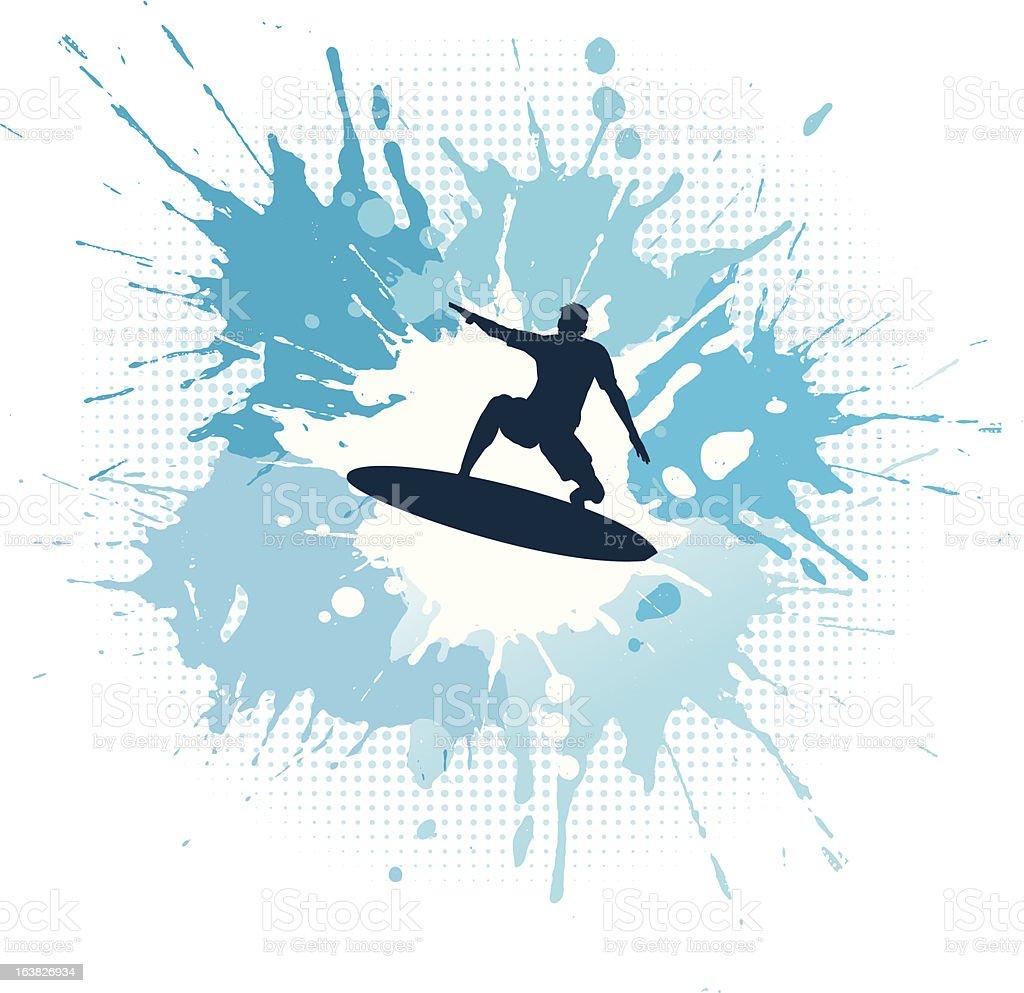 Surfing grunge royalty-free stock vector art