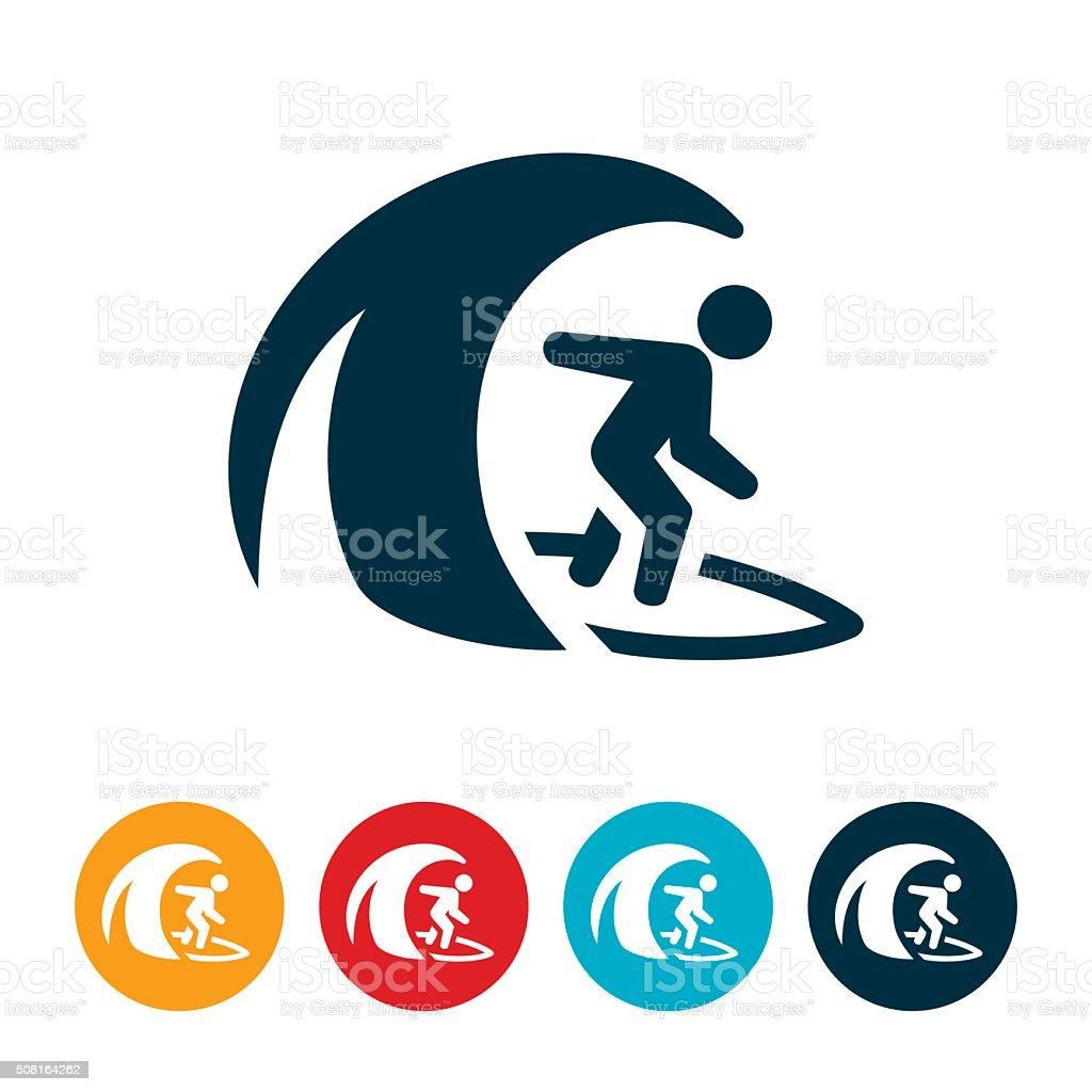 Surfing Icon vector art illustration
