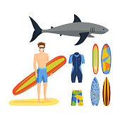 Surfing vector set.